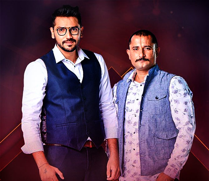 Romil with his friend Nirmal