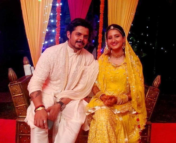 SreeSanth with his Wife