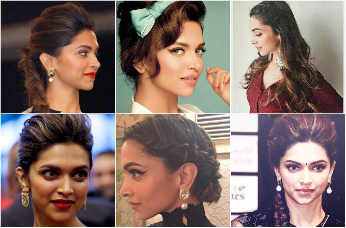 collage DEEPIKA's Haircuts