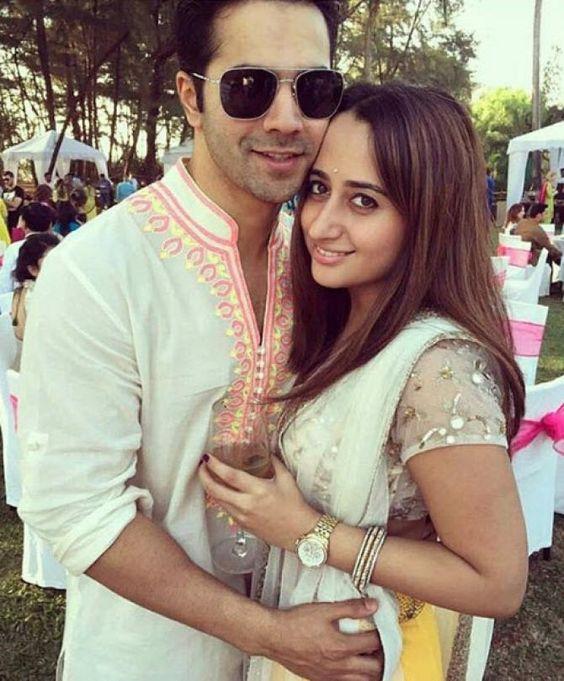 Varun Dhawan with his girlfriend