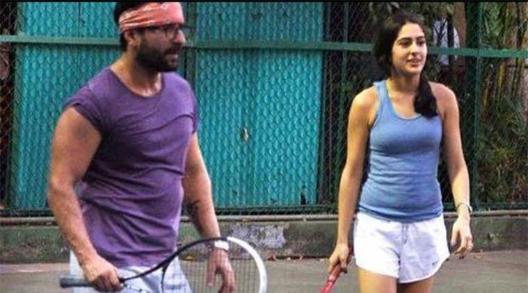 sara loves to play tennis with her father
