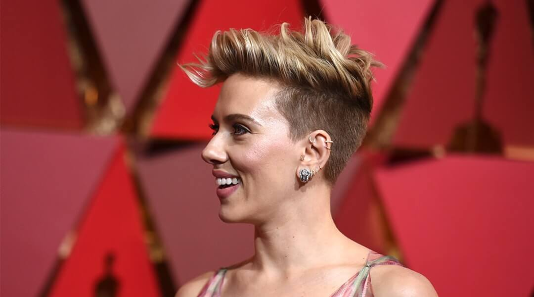 Scarlett Johansson with short hair