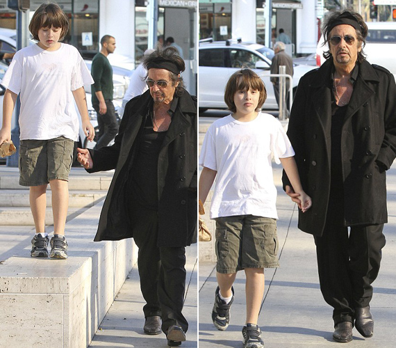 Al pacino with his twins son