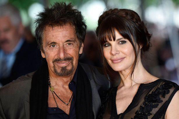 al pacino with his girlfriend Lucila Sola