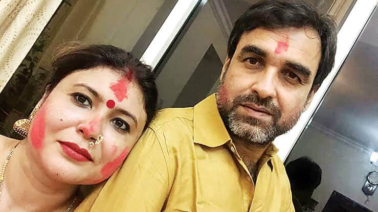 Pankaj Tripathi With wife