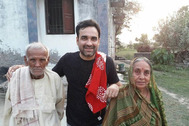 Parents of Pankaj Tripathi