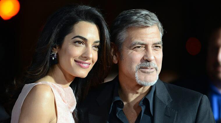 Amal with her husband