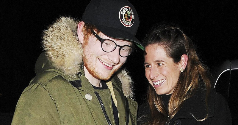 Ed sheeran with his wife cherry seaborn