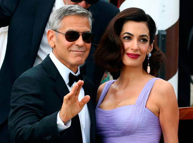 George with his wife Amal Clooney